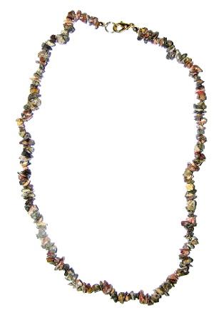 JASPIS leopardí náhrdelník 45cm