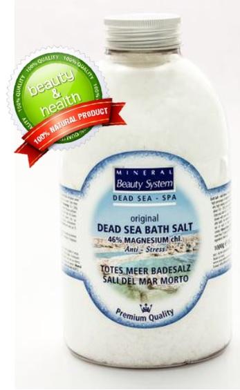100% přírodní Sůl z Mrtvého moře 1000g